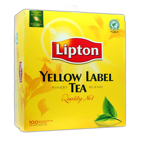 Lipton tea png. Yellow label coffee more