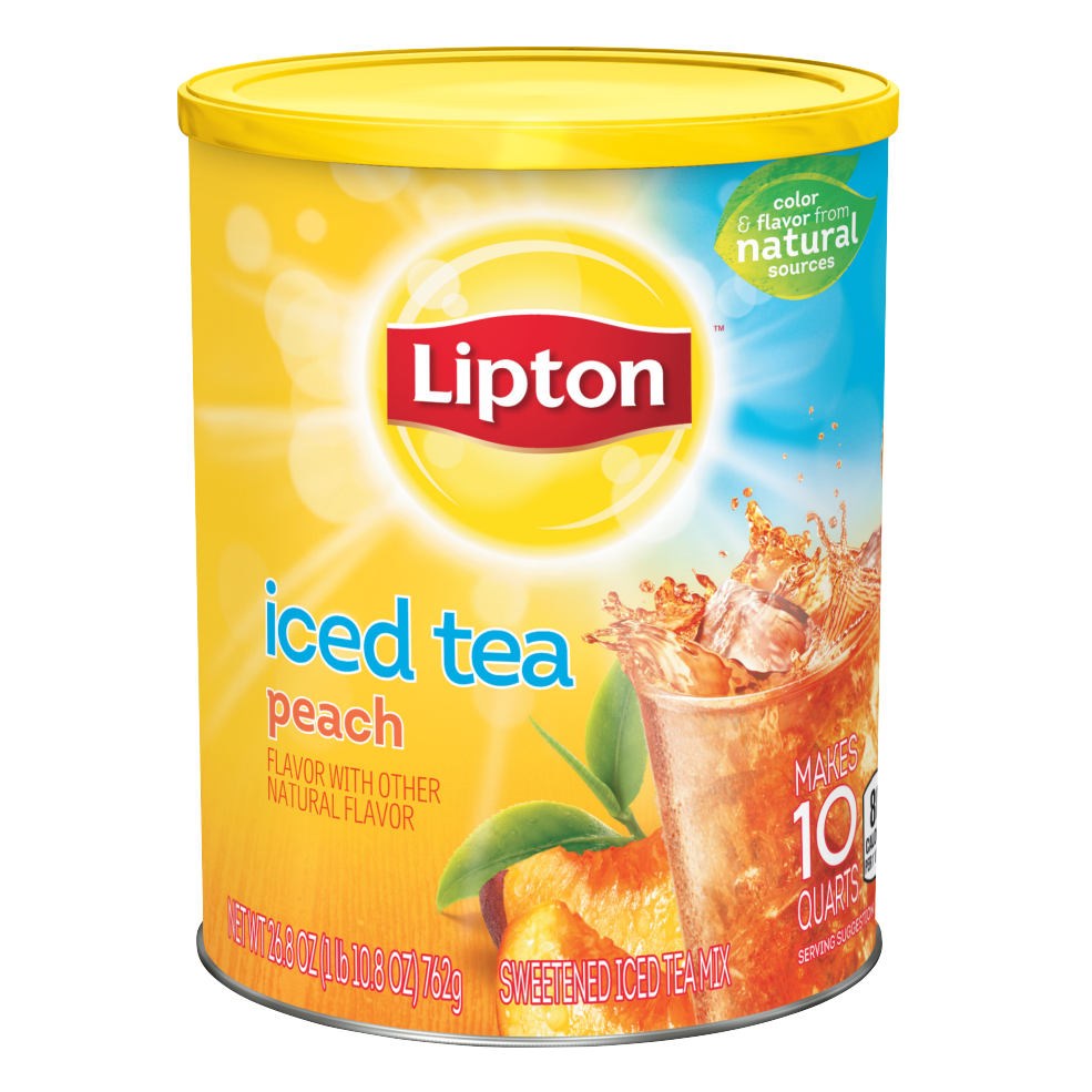 Lipton tea png. Diet peach iced mix
