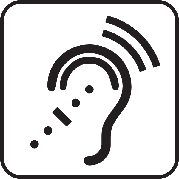 Listen clipart png. Assisstive listening systems white