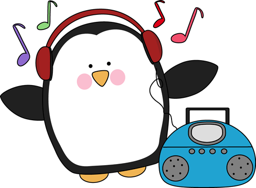 Music clipart. Listening to clip art