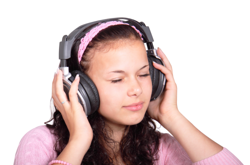 listening to music png