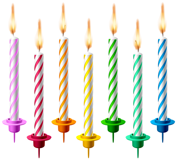 Lit number 1 and 5 birthday candles png. Transparent clip art image