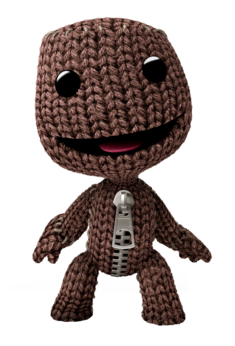 Sackboy drawing sonic