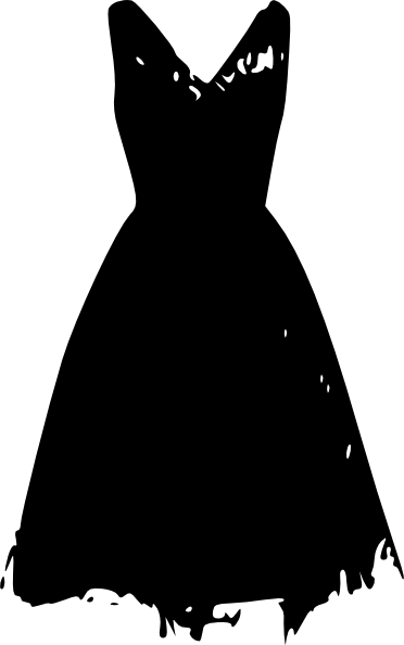 Little black dress png. Vintage clip art at