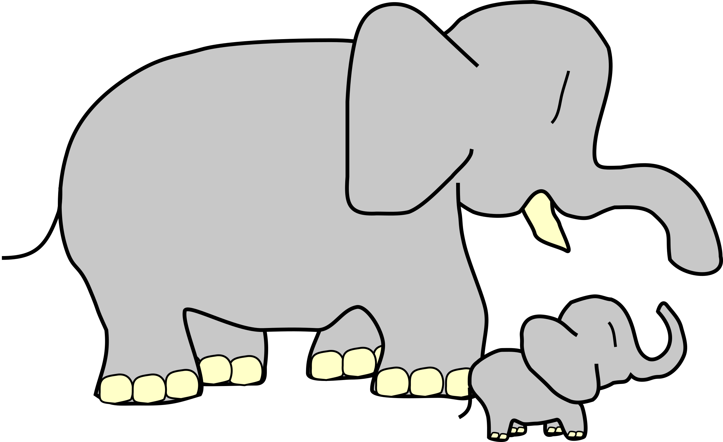 Elephants svg grey baby. Big and little clipart