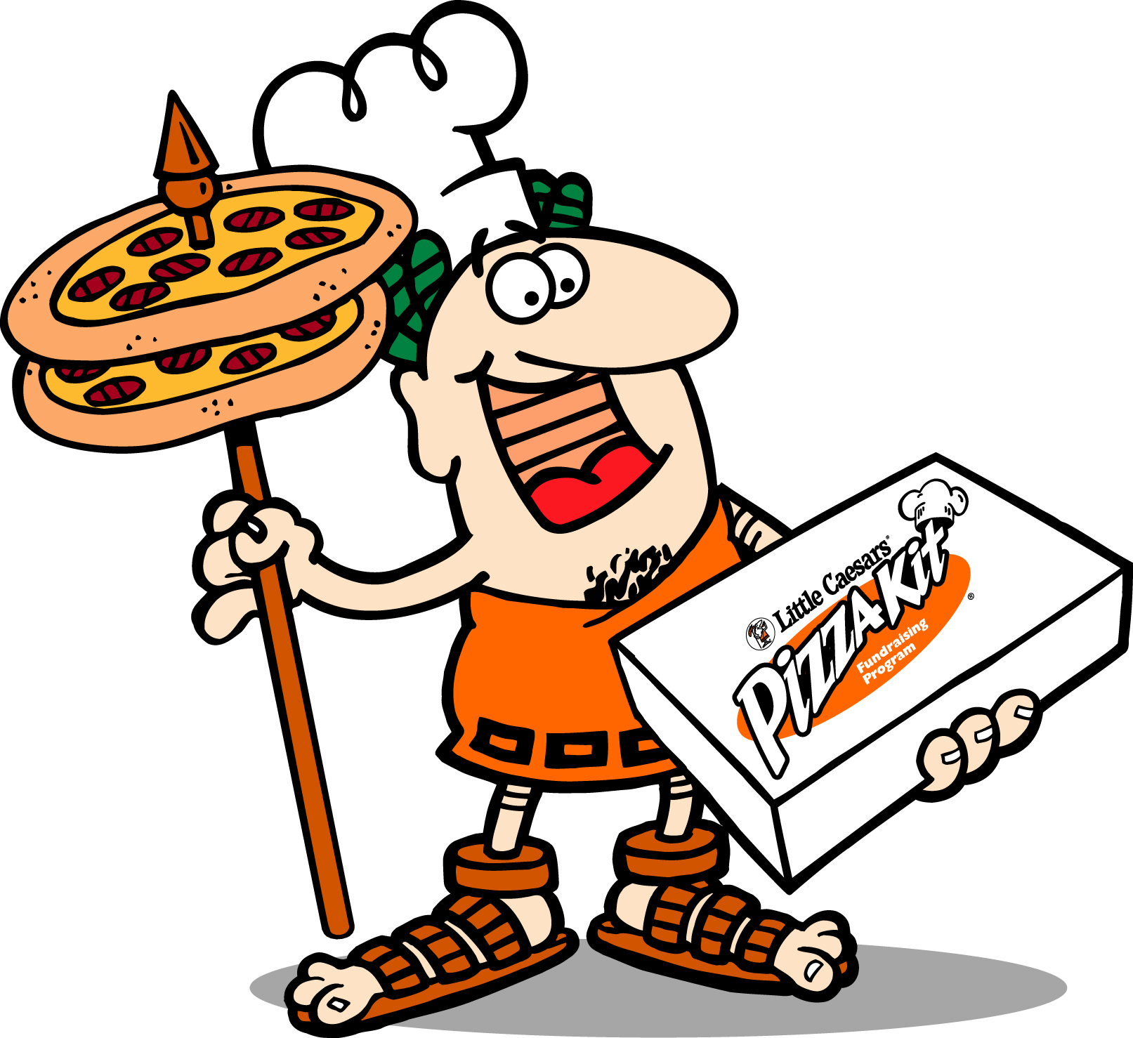 Caesars pizza panda free. Little clipart royalty free library