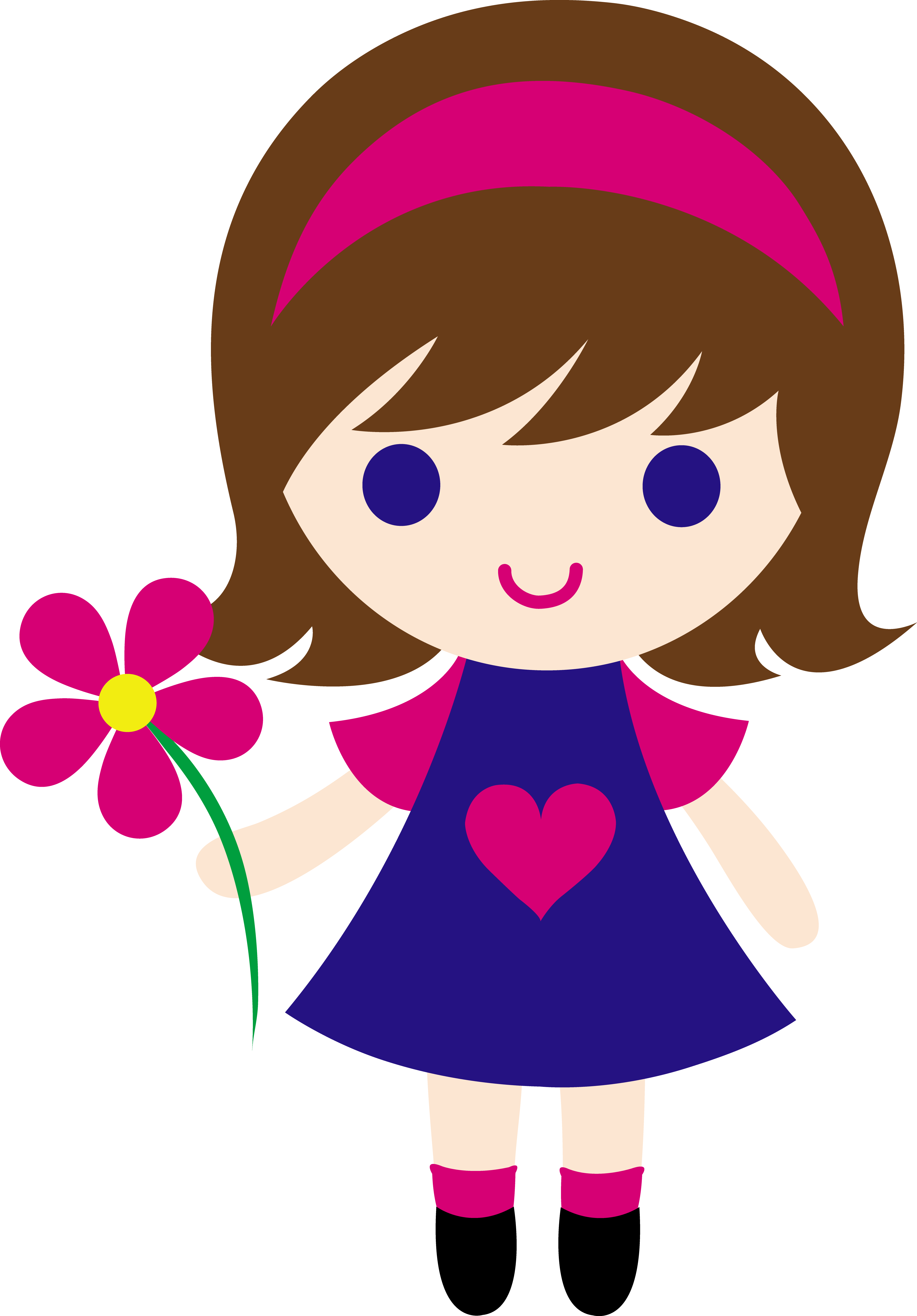 My clip art of. Girls transparent cartoon picture library library