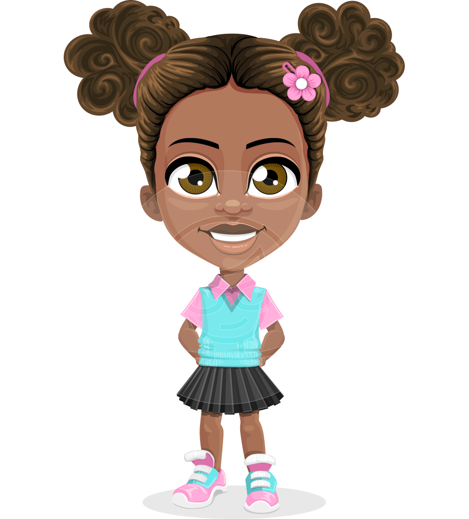 Little girl cartoon png. Anita the playful vector
