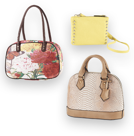 transparent purses tan