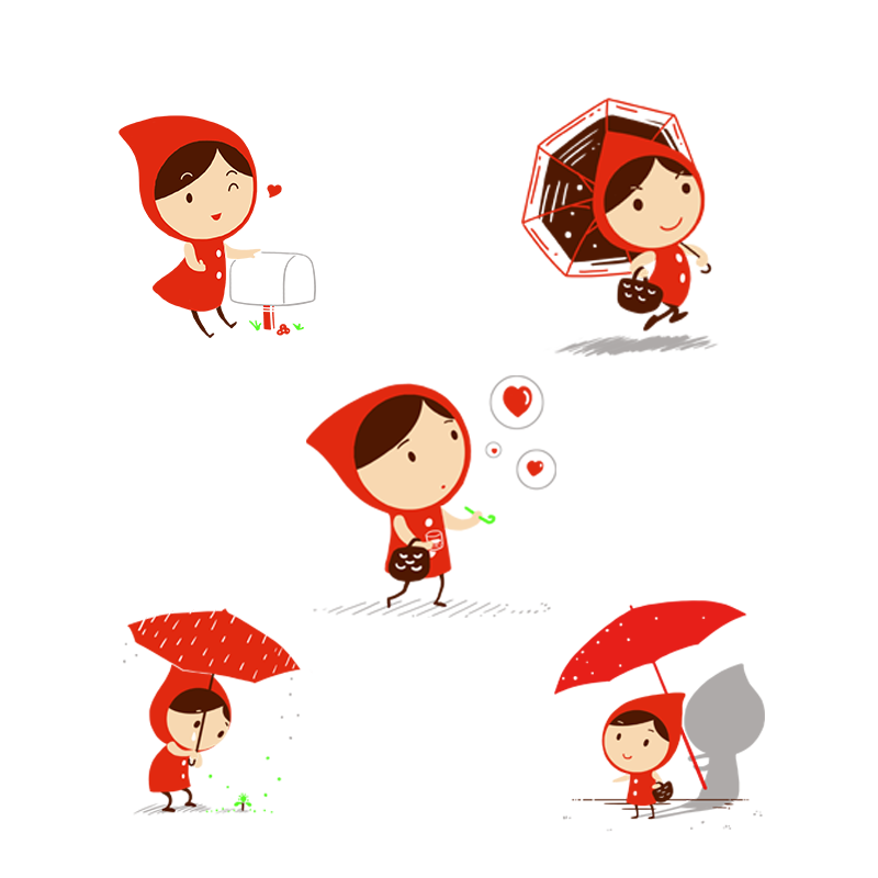 Little red riding hood png. Clip art character child