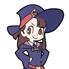 Akko little witch academia png. Line stickers store