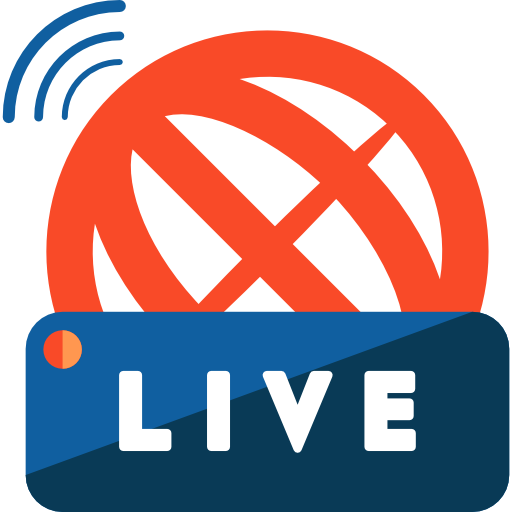 News transparent stream. Live free communications icons