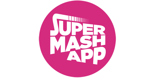 Supermashapp interactive tv shows. Live facebook png banner black and white stock