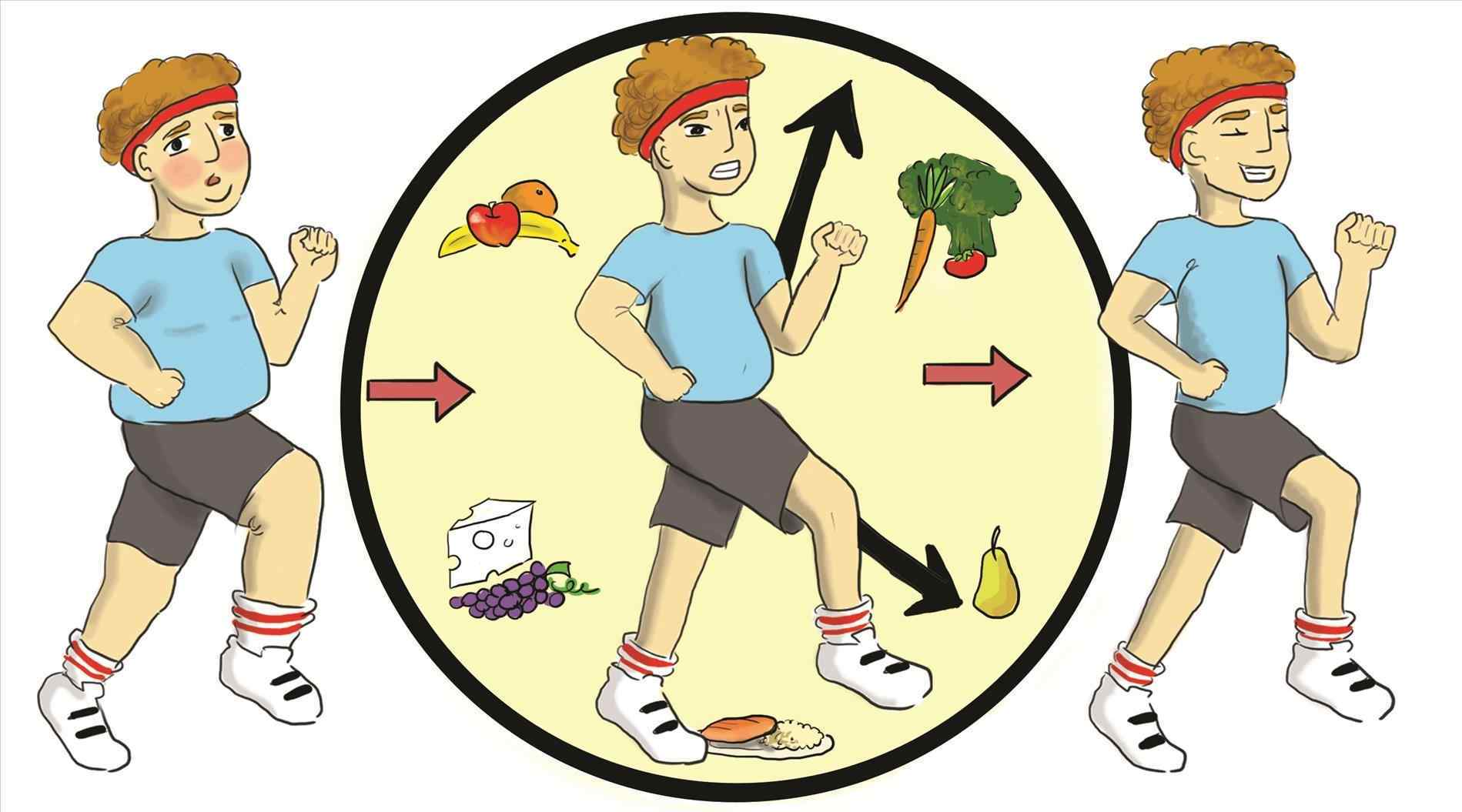 Living clipart. Images healthy of lifestyle