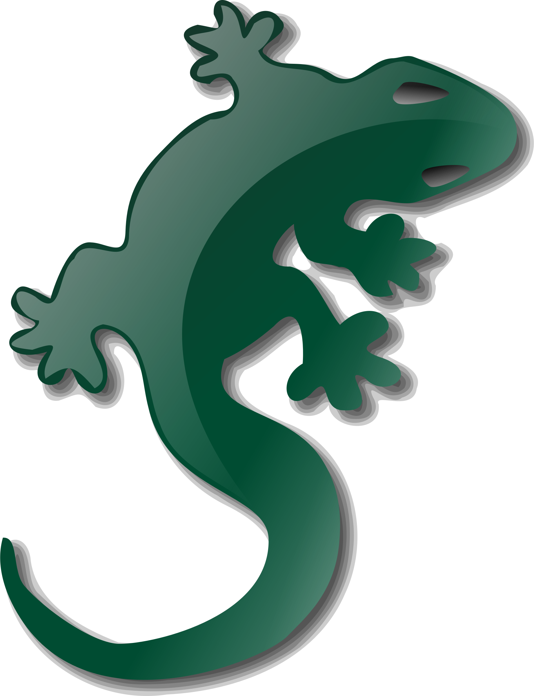 Lizard clipart green lizard. By nicubunu a on