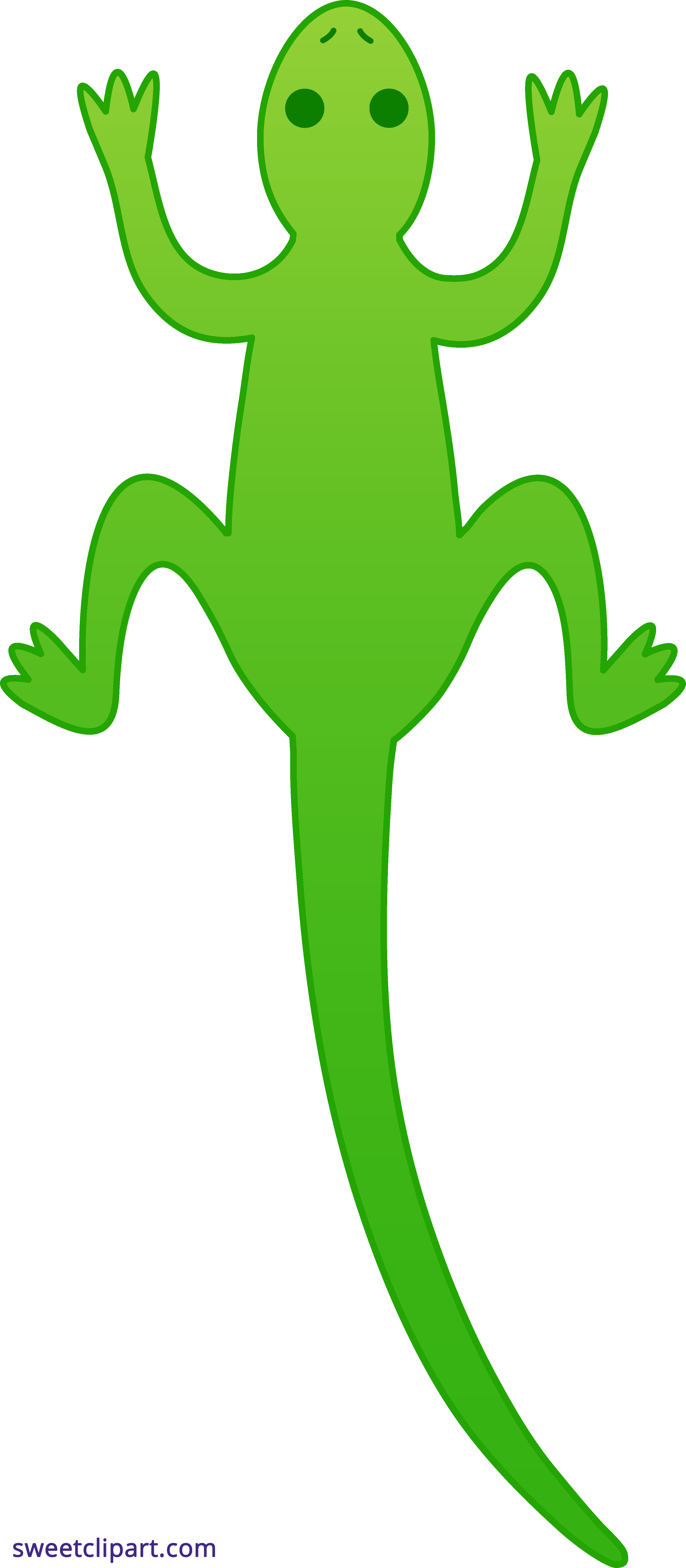 Lizard clipart green lizard. Sweet clip art