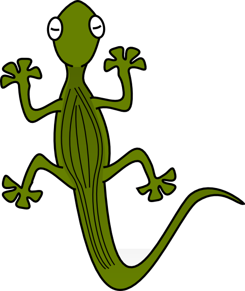 Amphibians drawing reptile. Lizard clip art cute