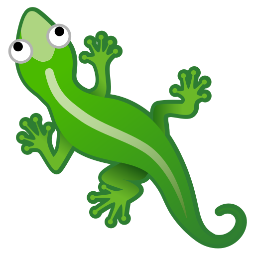 Lizard svg emoji. Icon free of noto