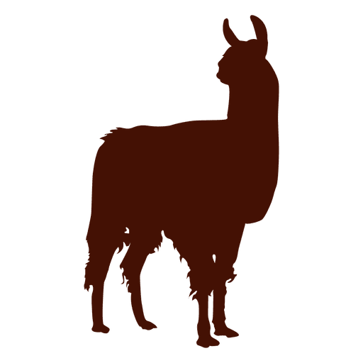 Llama animal png. Silhouette transparent svg vector