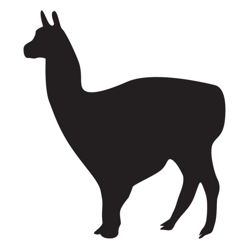 Llama animal vector png. Isolated transparent svg