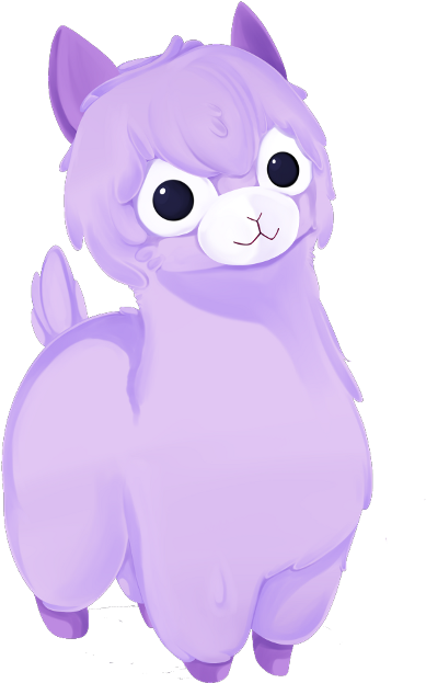 Llama background png. Download kawaii image with