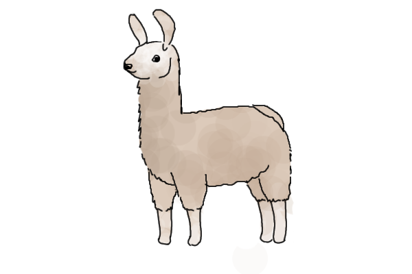 Llama background png. Fluffeh by randomhorsey on