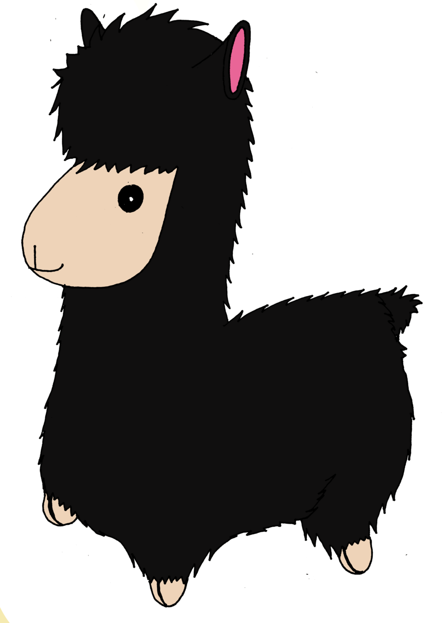 Llama black png clipart. Plush by clarobell on