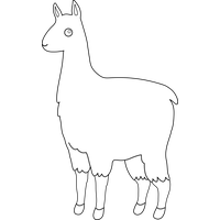 Llama black png clipart. Download to use transparent