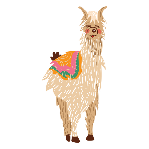 Llama png transparent background. Standing illustration svg vector