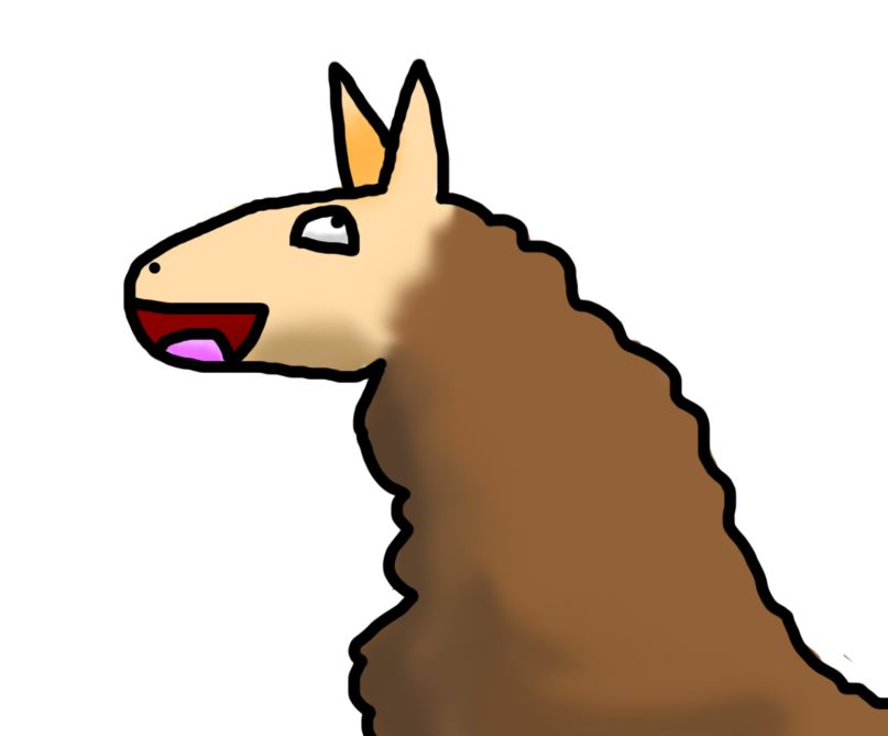 Llama cartoon png. Happy by arceus sama