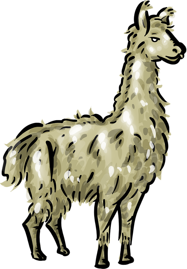 Llama cartoon png. Free clipart page of