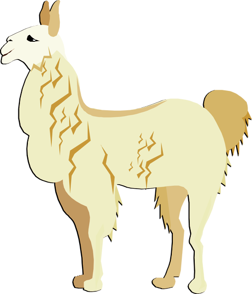 llama clipart cartoon