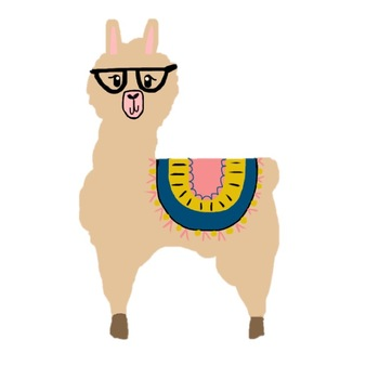 Llama clipart. Onehappyclassroom teachers pay science
