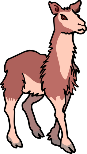 Llama clipart. Little brown png