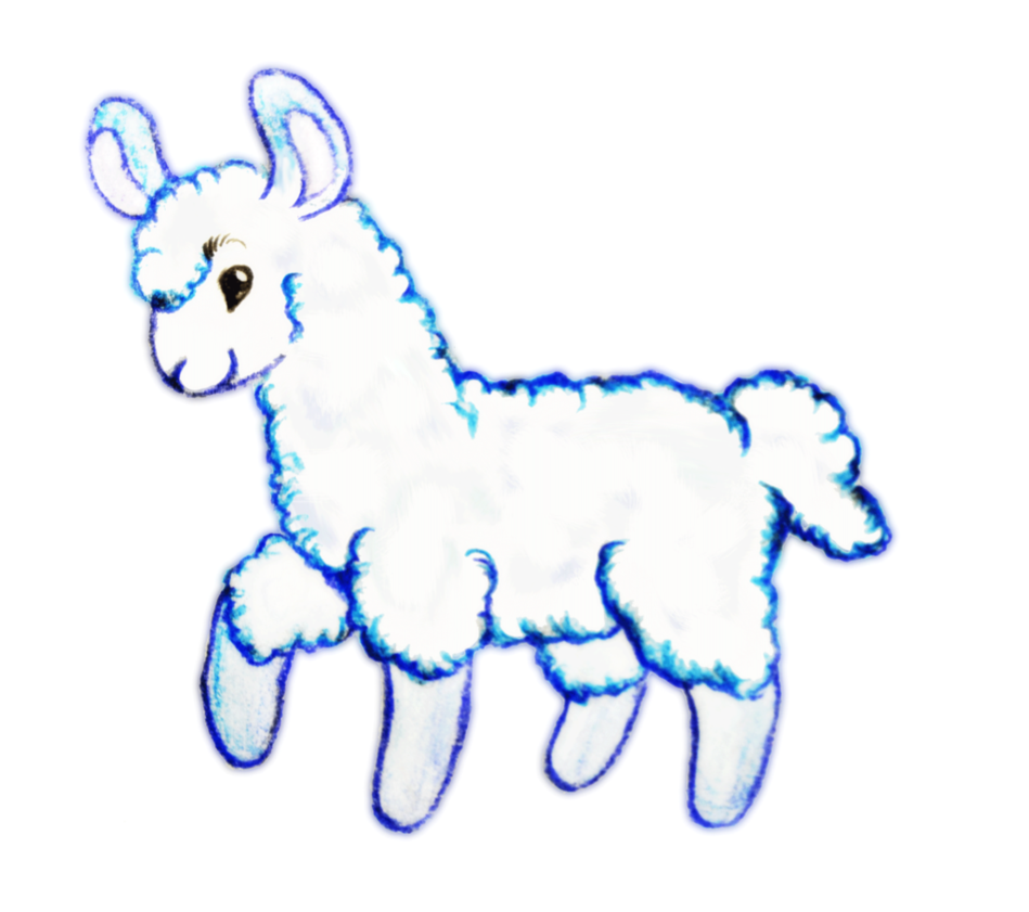 Llama clipart cartoon. Baby clip art library