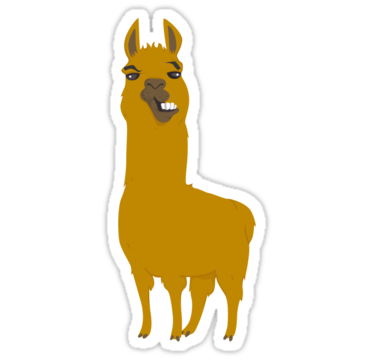 Llama clipart cartoon. Is cool stickers by