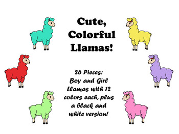 Llama clipart colorful. Cute theme clip art