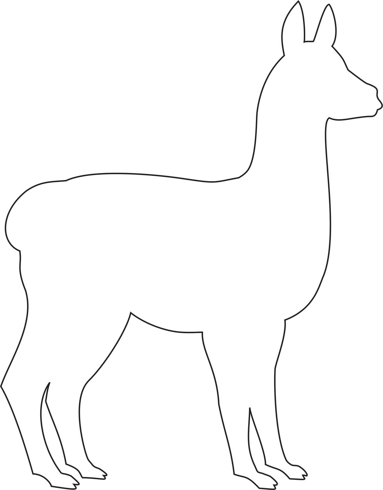 Llama clipart llama outline. Group template printable templates