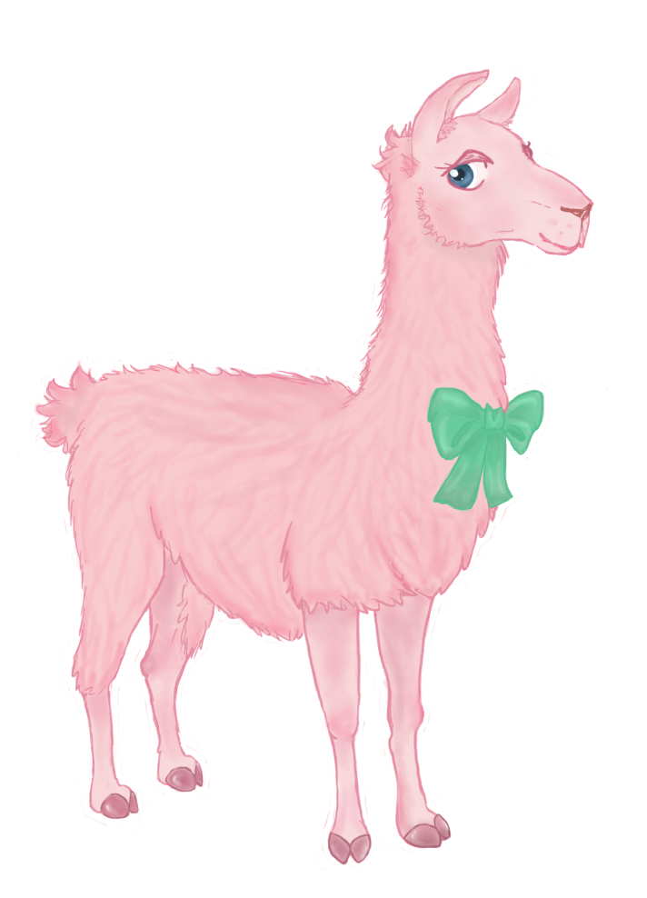 Llama clipart pink. Pix for outline clip