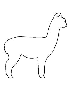 Llama clipart llama outline. Pattern use the printable