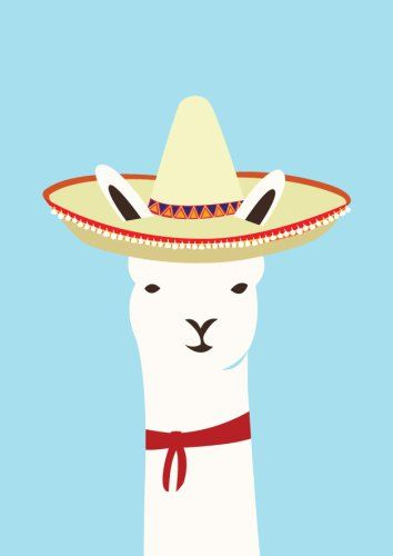 Llama clipart mexican. Illustrated by alice berry