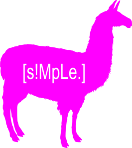Llama clipart pink. S mple logo neon