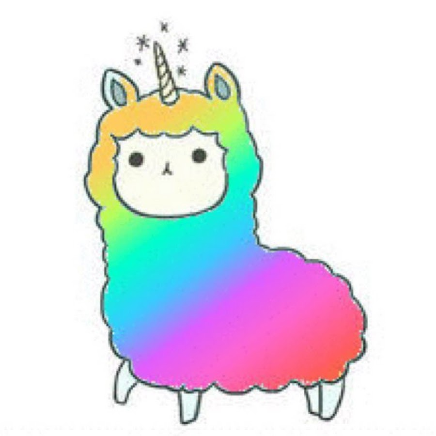 Llama clipart rainbow. Kawaii youtube