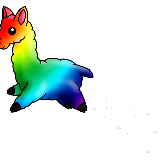 Llama clipart rainbow. By terrabird on deviantart