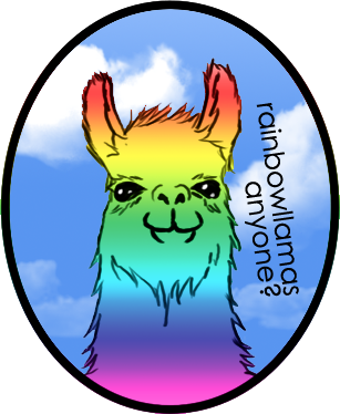 Llama clipart rainbow. By akazuno on deviantart