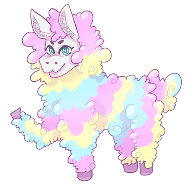 Llama clipart rainbow. Cotton candy by alexachu