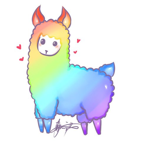 Llama clipart rainbow. Alpaca at getdrawings com