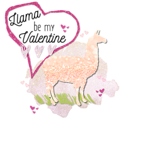 Llama clipart valentine. Be my by modest