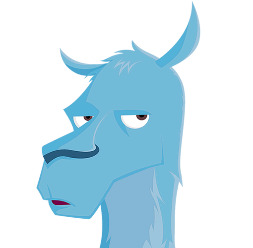 Llama head png. Digital websites web apps