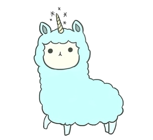 Llama kawaii png. Transparent my edit not